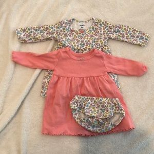 Two dresses- one diaper cover